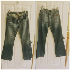 7 for all Mankind pink rhinestone jeans
